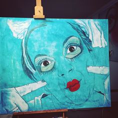 #workinprogress of #today #DollSamantha  #doll #dolls  #contemporaryart #italianpainter #Painting in #Tuscany Monica Spicciani #Painter #Painting in #Tuscany #Italy #art #fineart #artist #studio #contemporaryart #portrait #italianpainter