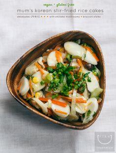 Mum's Korean Stir-Fried Rice Cakes (Vegan + Gluten-Free)   vegan miam