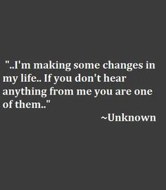 On changes.