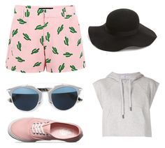 Summertime by yarendemirci on Polyvore featuring polyvore, beauty, Topshop, Christian Dior, adidas, American Retro and Vans