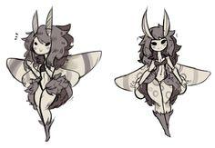 Bringing back moth girl for cutiesaturday by Zanamaoria Fantasy Character Design, Character Design Inspiration, Character Art, Moth Drawing, Furry Drawing, Cute Characters, Fantasy Characters, Fantasy Kunst, Fantasy Art