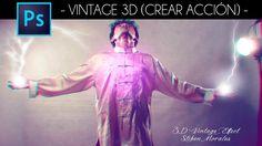 Tutorial Photoshop: Crear acción efecto 3D by @photoshopstiben
