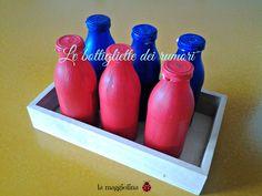 Come riciclare le bottigliette di succo di frutta creando un'attività educativa.