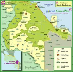 Southern Costa Rica Map 2012