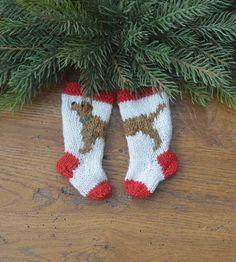 brand new! Golden Retriever hand-knit Christmas Stocking Ornament