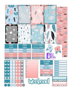 Free Printable Gentle Garden Printable Planner Stickers pink and blue pastell theme butterfly checklists, frames, titles, trackers To Do Planner, Free Planner, Happy Planner, 2015 Planner, Planner Diy, Blog Planner, Printable Planner Stickers, Journal Stickers, Free Printable