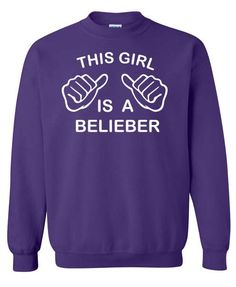 This Girl Is A Belieber Justin Bieber Funny Sweatshirt x Crewneck x Jumper x Sweater. $25.00, via Etsy.