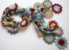 Gorgeous Japanese flower scarf