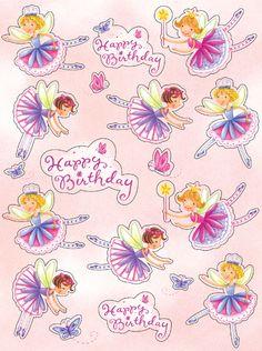 Garden Fairy Party Stickers