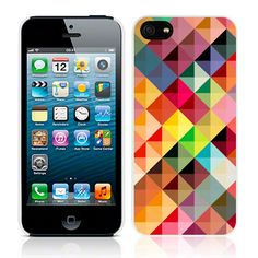 """Apple iPhone 5 """"Aztec"""" Glossy Image Back Cover By Call Candy - Kaleidoscope (122-095-110) Shape Of My Heart High quality case for the Apple iPhone 5. Each cover is made from a special tough gel, which makes it flexible like silicone but tougher than a crystal case and provides protection and extra grip, which minimizes the chance of dropping your device. Jellibean's unique design allows easy access to all buttons, controls & ports without having to remove the case."""