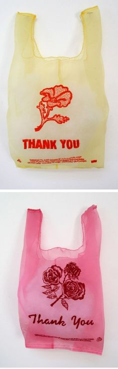 Beautiful work! Organza tote bag embroidered to look like a plastic grocery bag.