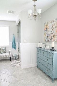 GORGEOUS Bathroom Makeover- color envy!  Love!