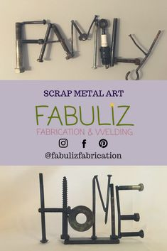 One of a kind welded art made entirely from recycled metal!