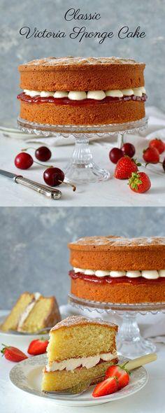 Classic Victoria sponge cake (Victoria sandwich) - the perfect tea time treat!