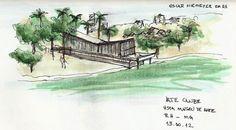 Iate Clube - Conjunto de Pampulha, croqui  Fonte: http://ww.vitruvius.com.br/jornal/charges/2495