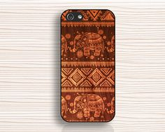 Wood grain elephant iphone caseporcelain pattern by anewcase, $9.99