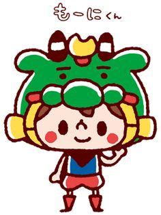 愛媛県宇和島市 もーにくん。 高校時代よくケータイの待受とかにしてたカナヘイさんのデザインらしい。