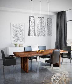 Salle manger luminaire design extension bois for Meuble ethier