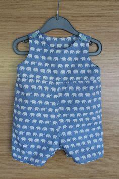 Baby Boy Raleigh Romper - pattern by Blank Slate Patterns.