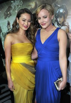 "Jamie Chung Photos - Actresses Jamie Chung and Abbie Cornish arrive at the ""Sucker Punch"" Los Angeles premiere at Grauman's Chinese Theatre on March 2011 in Hollywood, California. - Premiere Of Warner Bros. Abbie Cornish, Hollywood Boulevard, In Hollywood, Sucker Punch, Jamie Chung, Glamour Magazine, Young Actors, Successful Women, Independent Films"