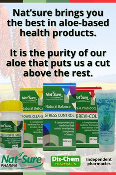 If you are looking for natural products that you can trust, look no further. Nat'Sure will bring you the best in Aloe basted health products. It's the purity of our aloe that puts us a cut above the rest. All our products have a success rate of more than 90% Stress Control, Cut Above The Rest, Health Products, Natural Products, Aloe, Detox, Trust, Conditioner, Bring It On