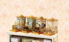 Miniature perfume 1/12 Set of 4 pieces  Dollhouse Miniature