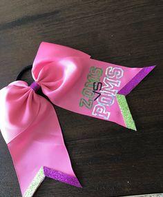 Zoms vs Poms cheer hair bow/ Bamm/ pink hair bow/ zombie bows/ disney shirts/disney zombies/ disney hair/ disney bows