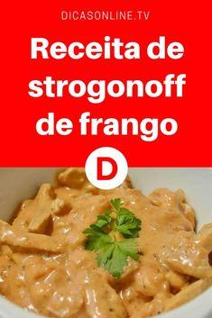 Strogonoff de frango | Receita de strogonoff de frango | Quer uma receita fácil, rápida e deliciosa? Então venha aprender a receita do strogonoff de frango mais perfeito que você já provou!