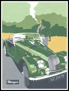 #British #Classic #Car Morgan Convertible
