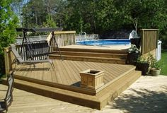 pools above ground with a deck | the wonderful above ground pools decks plans picture above is one of ...