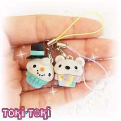 ♥ Do they ever stop talking? I dont think so! This cute winter charm set is a special edition for my Winter is Coming 2016 promo. Both are fully designed and hand-sculpted by me from polymer clay. This set features one cute snowman and a silly snow bear, finished with pastel mobile cords. With this charm set you also will get a FREE Conversation Charms Sticker set! ♥ Every piece of my work is completely handmade with love and attention to details. You will never find two items that will ever…