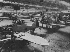 Officine Reggiane factory at Reggio Emilia, assembly line of Re-2001