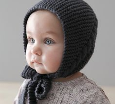 Baby Bonnet Hat, Soft Knit Baby Hat, Baby Knit hat, sizes from Newborn Baby Hat Knitting Pattern, Baby Hat Patterns, Baby Hats Knitting, Knitting For Kids, Knitted Hats, Crochet Hats, Tricot Baby, Crochet Baby Bonnet, Baby Bonnets