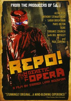 Begun in 2002 as a Los Angeles stage production by writers Darren Smith and Terrence Zdunich, REPO! THE GENETIC OPERA was designed as a gory, comedic Grand Guignol to appeal more to club goers than fa