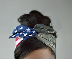 Image of Air Force Girlfriend, Air Force Headband, American headband, Flag Headband, Hair Bows