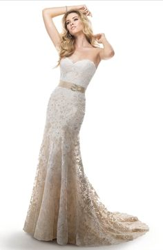Maggie Sottero - Sweetheart Sheath Gown in Lace