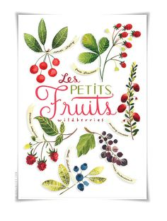 Les Petits Fruits / Wildberries - botanical watercolor collection - by Evajuliet Atelier.