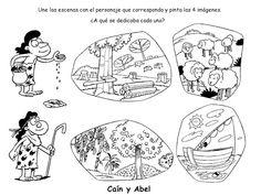Caim e Abel Cain And Abel, Bible Lessons For Kids, Kids Class, Bible Activities, Bible Crafts, Bible Stories, Ale, Comics, Children