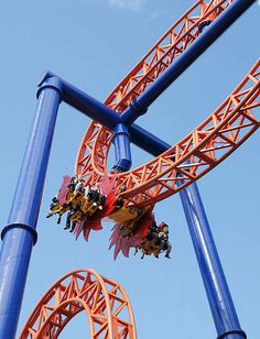 Kirnu, a steel roller coaster at Linnanmäki in Helsinki