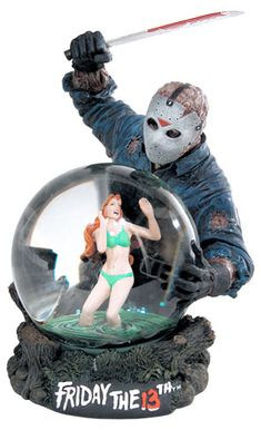 Friday the 13th snow globe via evilontwolegs.com