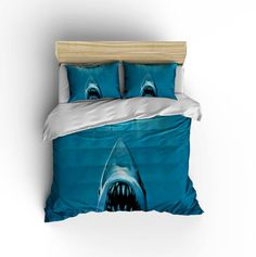 Jaws Duvet Cover Shark Bedding Jaws Bedding by xOnceUponADesignx