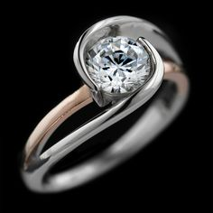 Our FAVORITE Engagement Rings Under $1000_Hoyt Two-Tone Engagement Ring