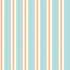 Sarah Jane - Children at Play Flannel - Racer Stripes in Aqua
