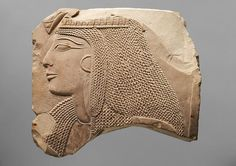 Relieffragment mit dem Kopf einer Dame, 19 dynasty, Kunst Historishen Museum Wien