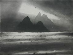 Skellig Sunset by Norman Ackroyd CBE, RA, ARCA, RE, MA
