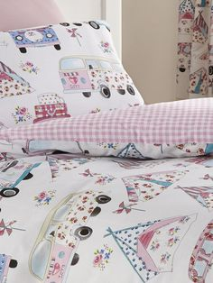 Campervan Gift - Shabby Chic Campervan Duvet and Pillow Case Set, £14.95 (http://www.campervangift.co.uk/shabby-chic-campervan-duvet-and-pillow-case-set/)