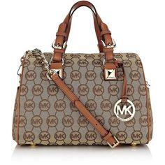 MICHAEL Michael Kors Grayson Bowler Bag ($385) ❤ liked on Polyvore