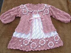 Croche pro Drink: Little dresses of child crochet, found the net, gorgeous +