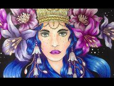 SUMMERNIGHTS - Hanna Karlzon - prismacolor pencils - color along - YouTube