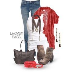 """Disc Scarf"" by maggiebags on Polyvore"